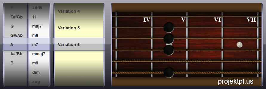 GUITAR CHORDFINDER / COOLSPINNER DEMO PROJECT